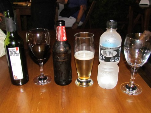 "Wine, Beer, Water at ""La Bodeguita"""