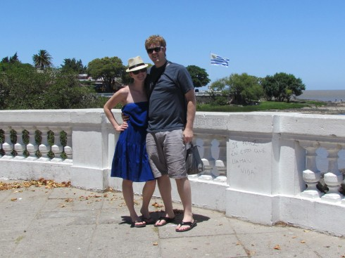 Maggie and Stephen in Colonia, Uruguay