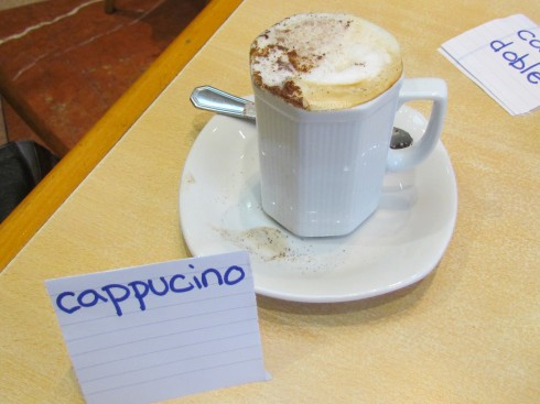 Capuccino in Buenos Aires