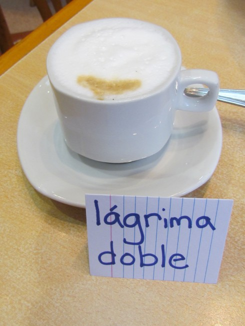 Café Lágrima (Doble) in Buenos Aires