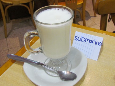 Submarino (Hot Chocolate) in Buenos Aires