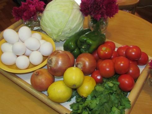 veggies and eggs