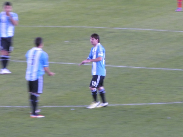 Lionel Messi before the Argentina vs. Ecuador game - June 2, 2012