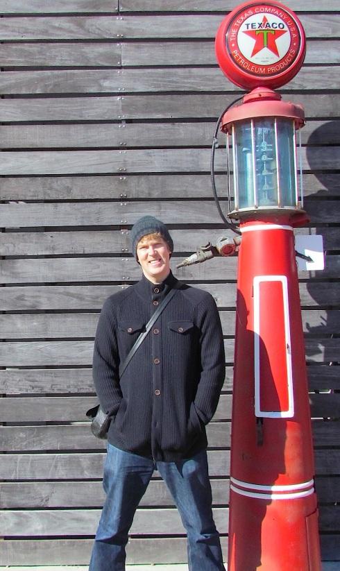 Old Texaco Gas Pump at Bouza Bodega in Uruguay
