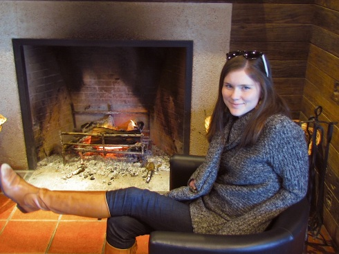 Staying Warm in July by the Fireplace at Bouza Bodega, Uruguay