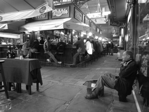 Shoe Shine Guy at Port Market (Mercado del Puerto) - Montevideo, Uruguay